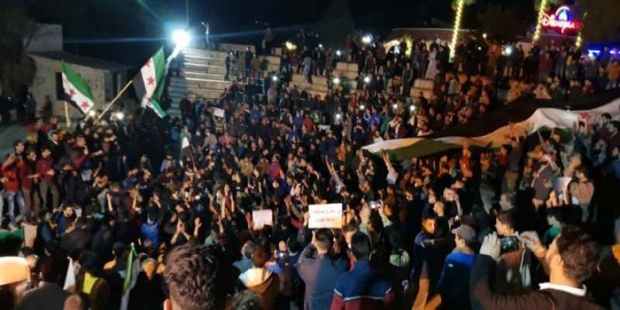 İdlib Halkı Katil Esed ve Yardakçılarını Protesto Etti