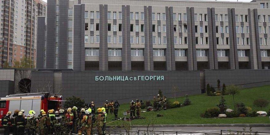 Rusya'da Kovid-19 Hastalarının Tedavi Gördüğü Hastanede Yangın