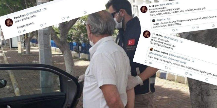 Twitter'da Allah'a ve Resul'e Alçakça Hakaretler Yağdıran Sapık Gözaltında