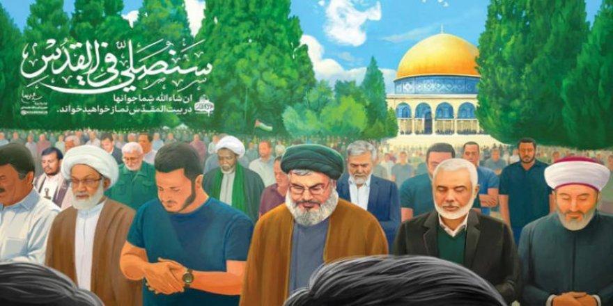 """Hamaney'in """"Kudüs'te Namaz"""" Rüyasında Katil Esed'den Tetikçi Süleymani'ye Kadar Kimler Yok ki!"""