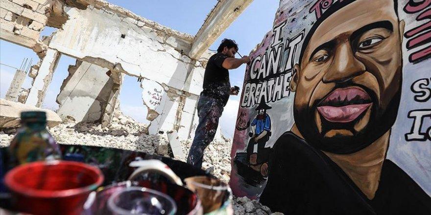 George Floyd'a İdlib'in Harabelerinde 'Nefes Verdiler'