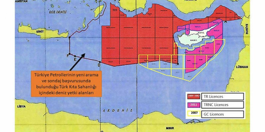 Türkiye'nin Doğu Akdeniz'de Yeni Ruhsat Başvurusu Yaptığı Sahalar