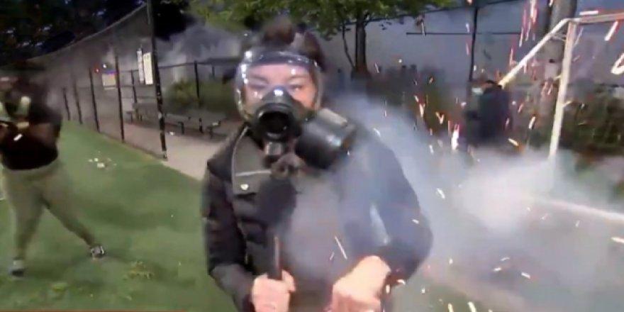 ABD'de Tansiyon Yüksek: Canlı Yayında Gaz Fişeği İsabet Etti