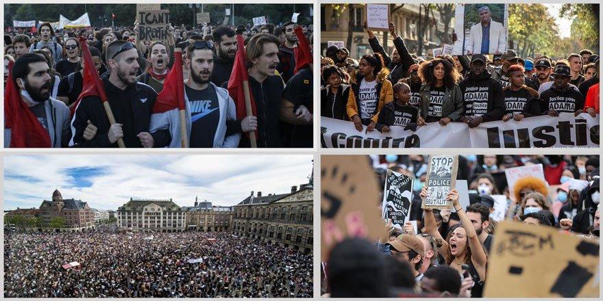 Amerikalı Irkçılık Karşıtlarına Avrupa'da Destek Eylemleri Büyüyor