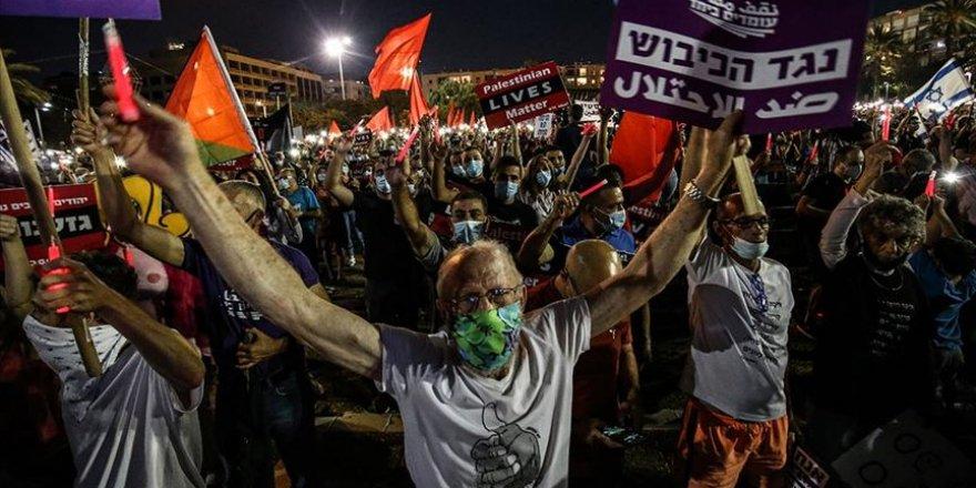 İsrail'in İşgal Planı Tel Aviv'de Protesto Edildi