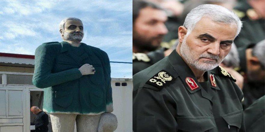 İran'dan Suriye Kasabı Kasım Süleymani'nin Heykeli İçin Seferberlik