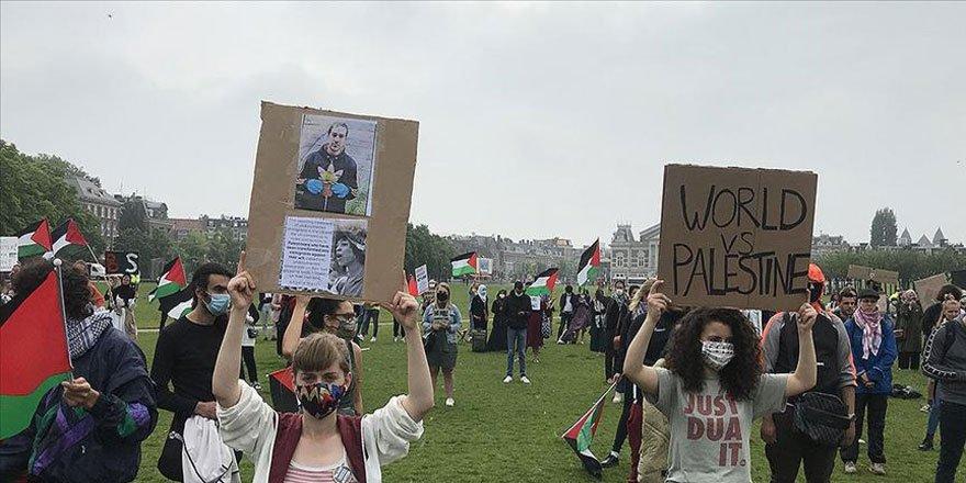 Siyonist İsrail'in İlhak Planı Hollanda'da Protesto Edildi