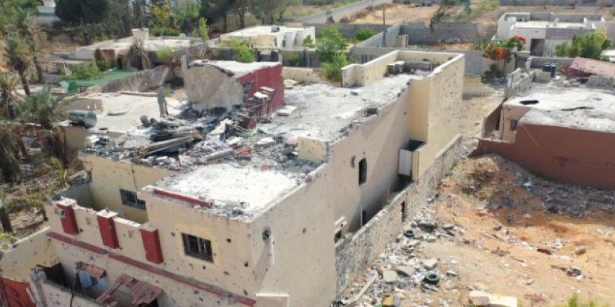 Darbeci Hafter'in Trablus'taki Tahribatının Görüntüleri