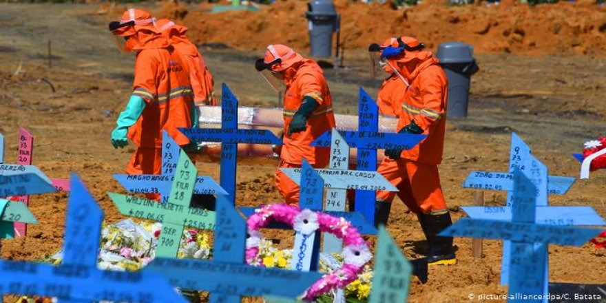 Kovid-19 Nedeniyle Son 24 Saatte Brezilya'da 1206, Meksika'da 647, Hindistan'da 375 Kişi Öldü