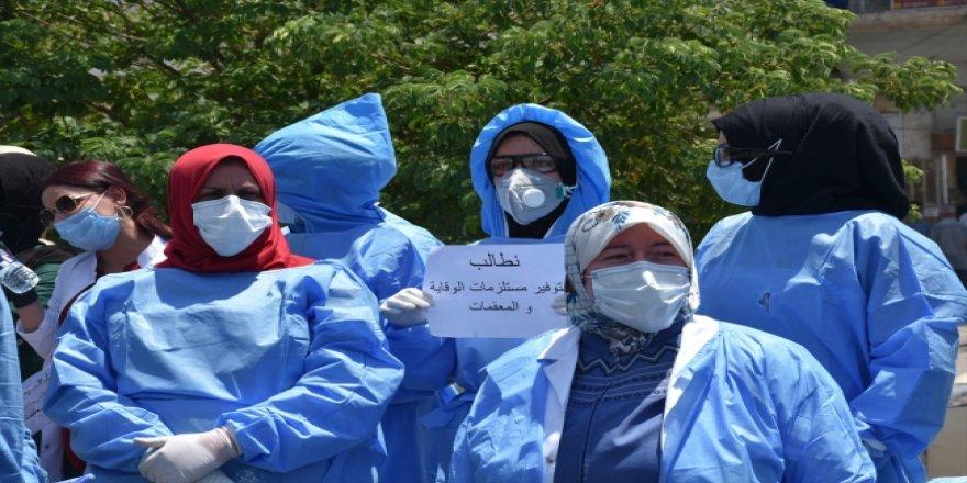 Kerkük'te Sağlık Personeli Çalışma Koşullarını Protesto Etti