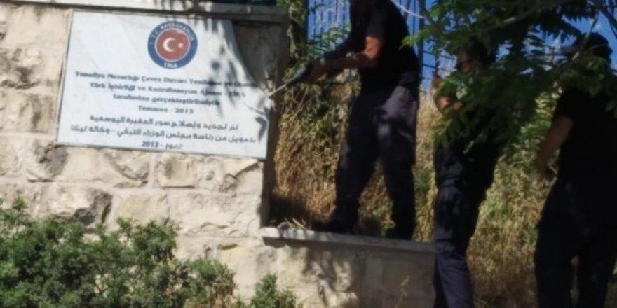 Siyonistler TİKA'nın Restore Ettiği Mezarlık Tabelalarını Söktü