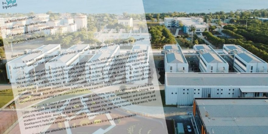 Yabancı Akademisyenlerden Erdoğan'a Şehir Üniversitesi Mektubu