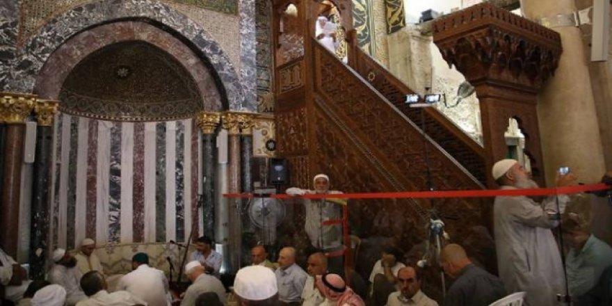 Mescid-i Aksa Minberinden İsrail'in 'İlhak' Planına Tepki