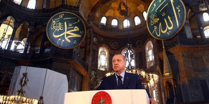Cumhurbaşkanı Erdoğan: Ayasofya'nın Dirilişi, Mescid-i Aksa'nın Özgürlüğe Kavuşmasının Habercisidir!