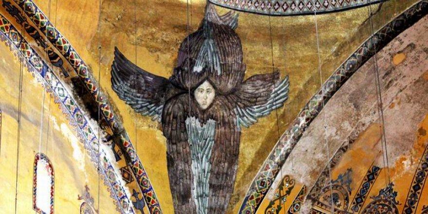 """""""Ayasofya'daki Freskler Lazer Işıkla Kapatılacak"""""""
