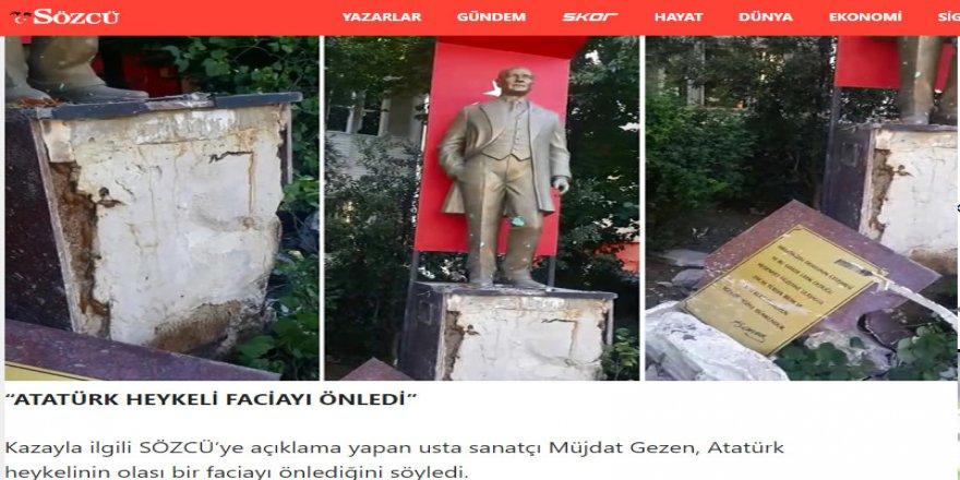 Modern hurafecilikte bugün: Atatürk heykeli korur!