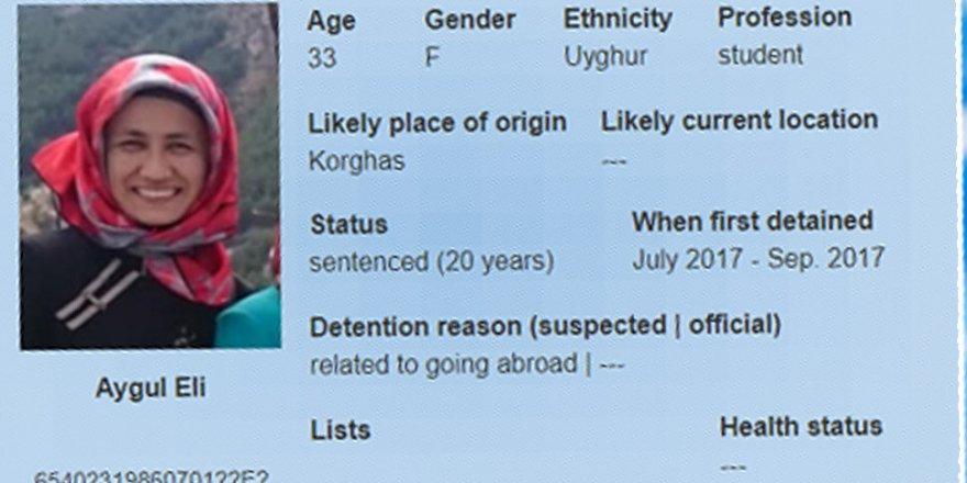 Türkiye'de okuduğu için tutuklanan Doğu Türkistanlı Aygül Eli'den haber alınamıyor