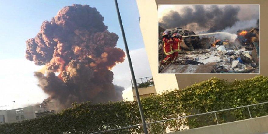 Lübnan'ın başkenti Beyrut'ta büyük bir patlama meydana geldi