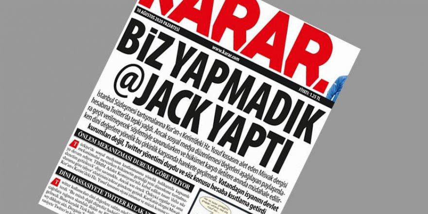 Karar gazetesinden Misvak dergisi için anlamsız manşet, zorlama yorum!