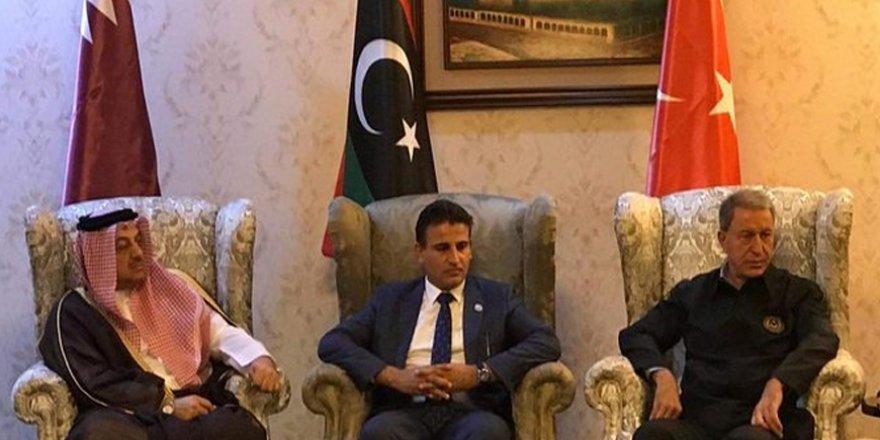 Türkiye ve Katar savunma bakanları Libya'da