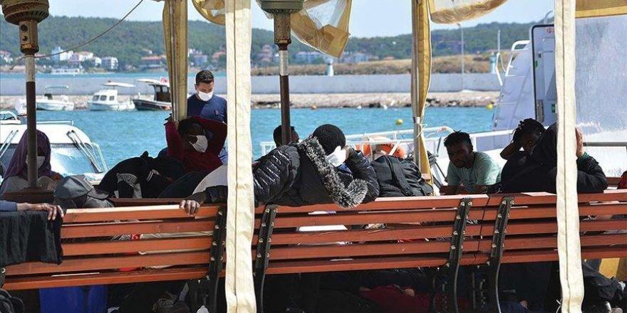 Ayvalık açıklarında Türkiye kara sularına geri itilen 42 sığınmacı kurtarıldı