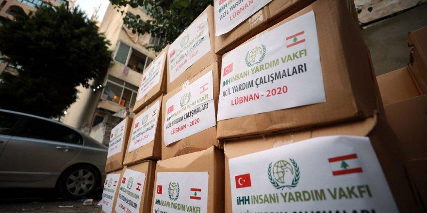 İHH 16 bin Lübnanlıya sıcak yemek, kumanya ve hijyen paketi ulaştırdı