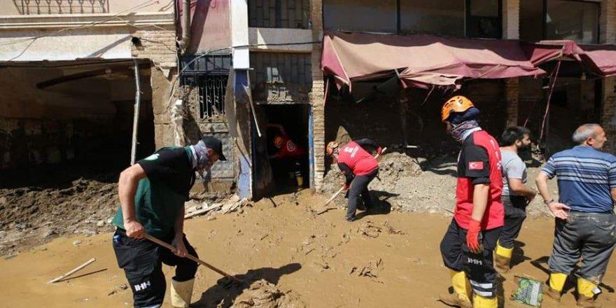 Eynesil Özgür-Der afet bölgesi Dereli'de yardım faaliyetlerine devam ediyor