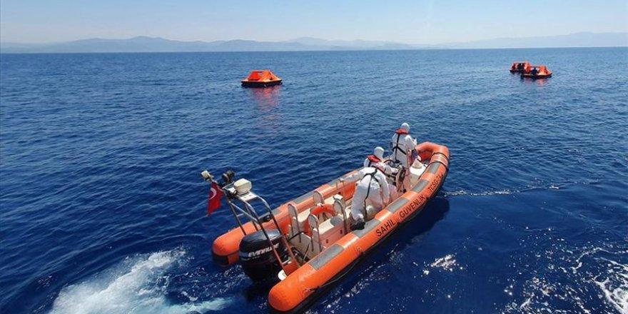 Yunanistan'ın Aydın açıklarına ittiği 41 sığınmacı kurtarıldı