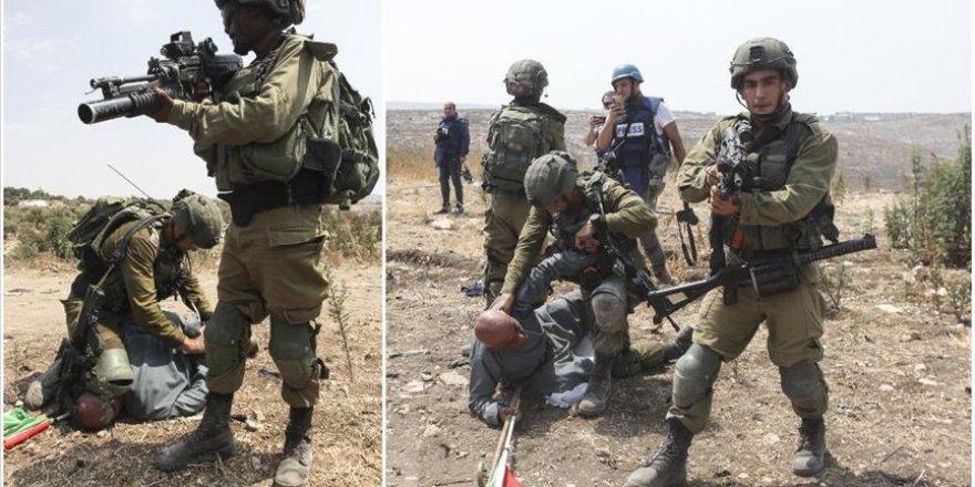 Siyonist askerlerin Filistinli yaşlı adama uyguladığı şiddet ABD'deki George Floyd olayını hatırlattı