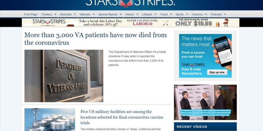 Pentagon, resmi gazetesi Stars and Stripes'ı kapatıyor