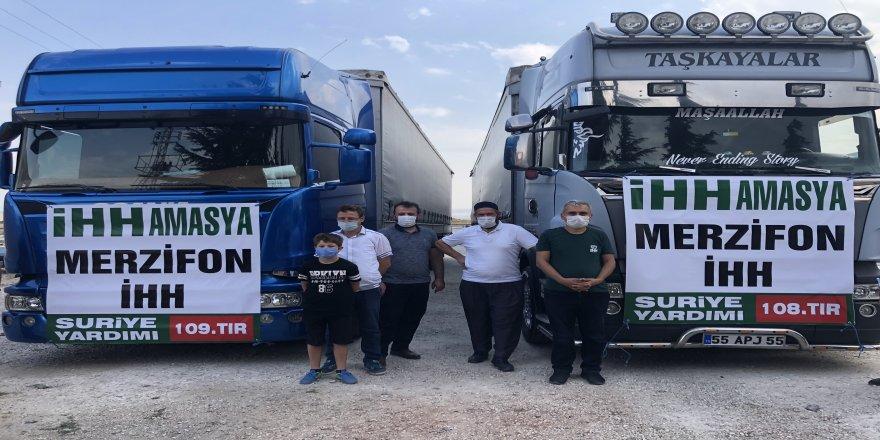 Merzifon İHH İdlib'e 3 tır insani yardım malzemesi gönderdi