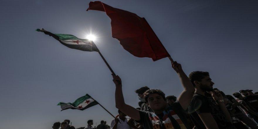 İdlib'de TSK'ye destek gösterileri devam ediyor