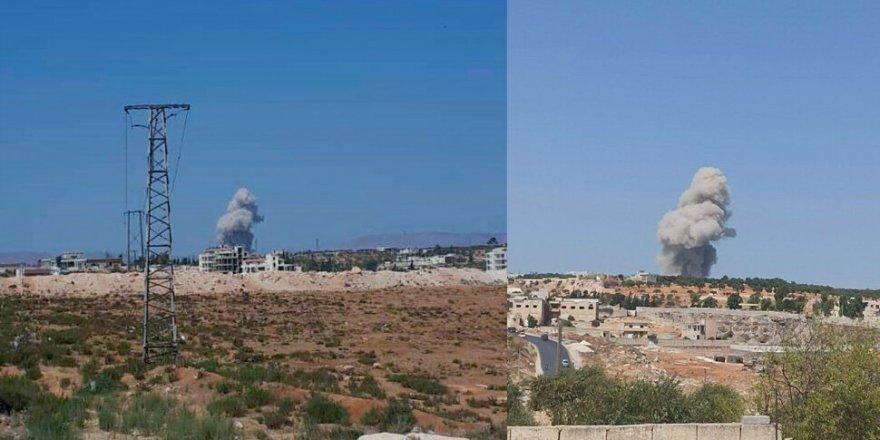 Rus savaş uçakları İdlib'i bombaladı