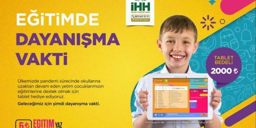 İHH, öğrencilere tablet hediye edecek