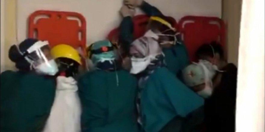 Ameliyathanedeki sağlık çalışanlarına saldırıya ilişkin 2 gözaltı