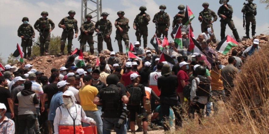 İsrail ordusundan Batı Şeria'daki gösteriye müdahale