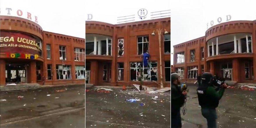 Ermenistan Gence'de alışveriş merkezini hedef aldı