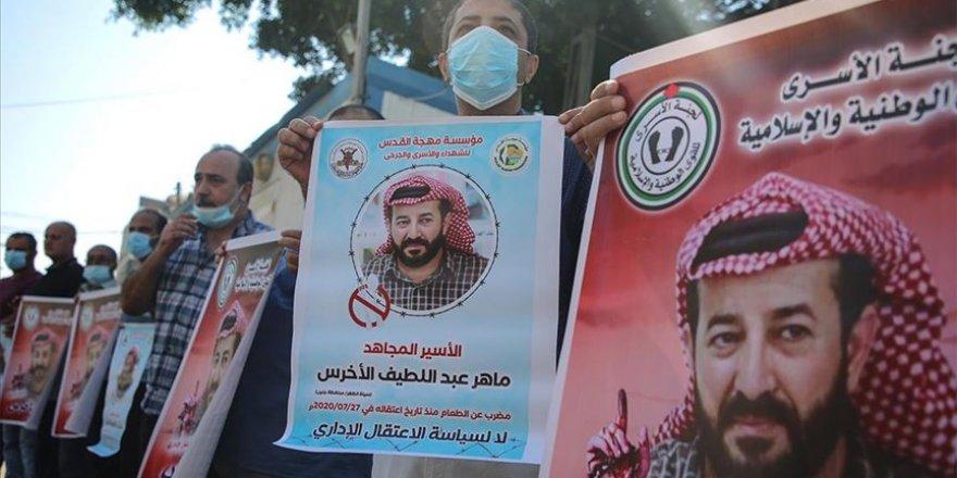 Gazzelilerden açlık grevi yapan Filistinli tutuklu Ahres için uluslararası örgütlere harekete geçme çağrısı