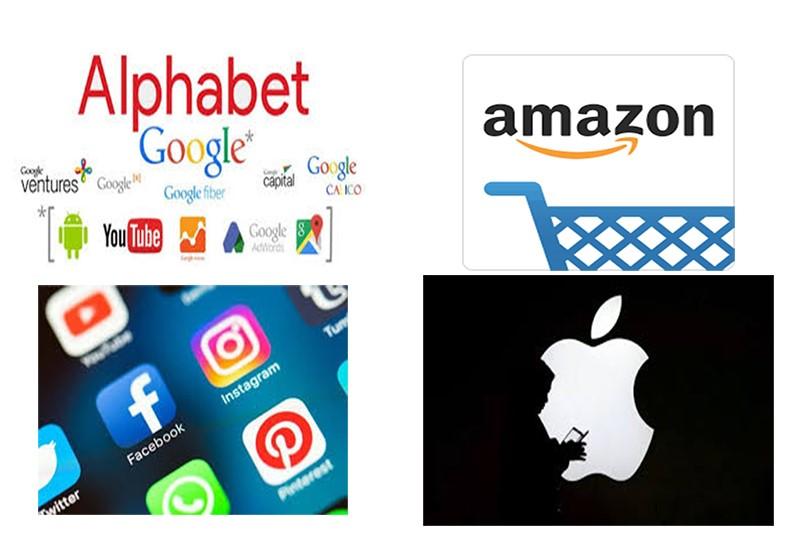 """Facebook, Amazon, Alphabet ve Apple """"tekel gücünün"""" tadını çıkarıyor"""