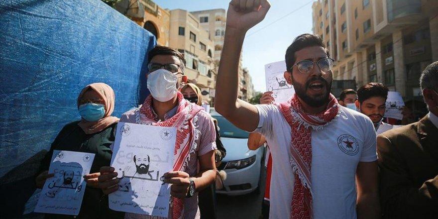 Gazzelilerden, açlık grevindeki Filistinli tutuklu Ahres için destek gösterisi