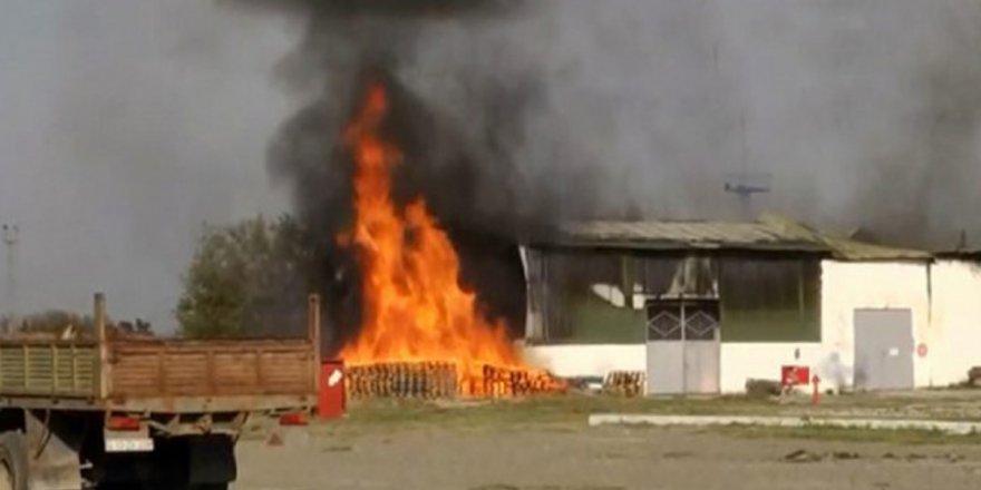 Ermenistan ateşkesi yine bozdu: Terter'deki fabrika vuruldu