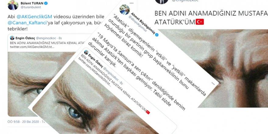 """CHP'lileri """"Atatürk""""ün adını anmamakla eleştirme basiretsizliği!"""