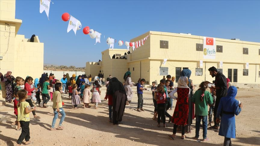 İdlib'de Muhammed Mursi Yetim Yaşam Merkezi açıldı