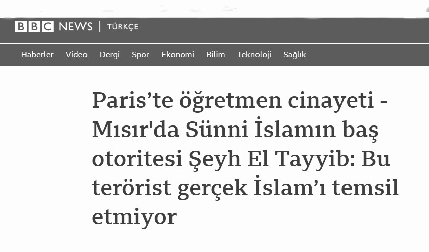 Ezher Şeyhi'nin soytarılığı İslam düşmanlarının çok hoşuna gitmiş!