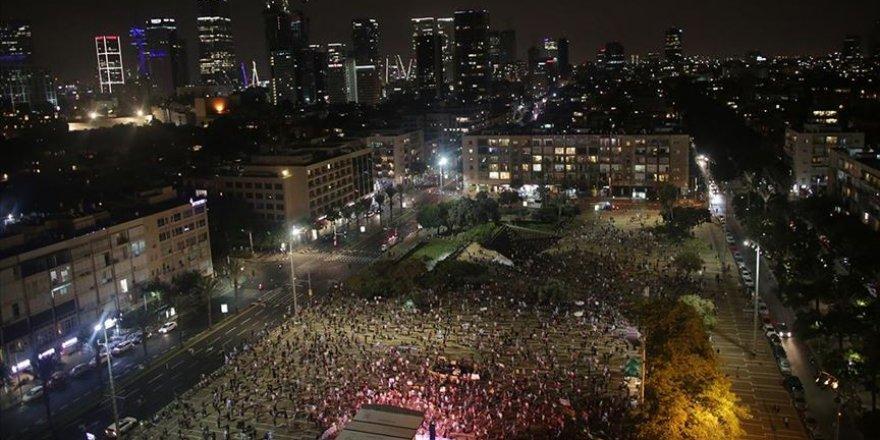 Siyonist İsrail'de Netanyahu karşıtı gösteriler 18. haftasına girdi