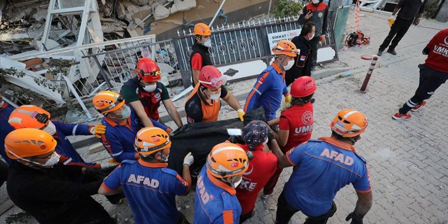 İzmir'deki depremde hayatını kaybedenlerin sayısı 36'ya yükseldi