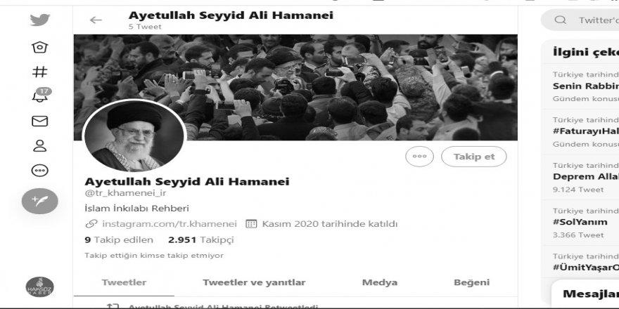 Hamaney'in Türkçe sosyal medya sayfası ve ilk paylaşımları