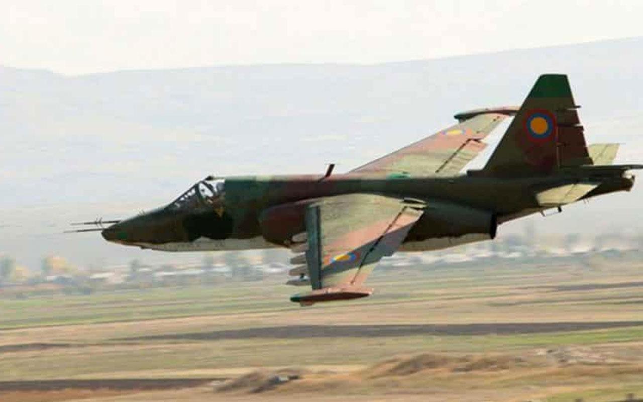 Azerbaycan ordusu saldırı hazırlığındaki Ermenistan'a ait SU-25 uçağını düşürdü