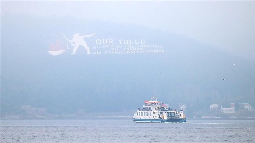 Çanakkale Boğazı yoğun sis nedeniyle kapatıldı