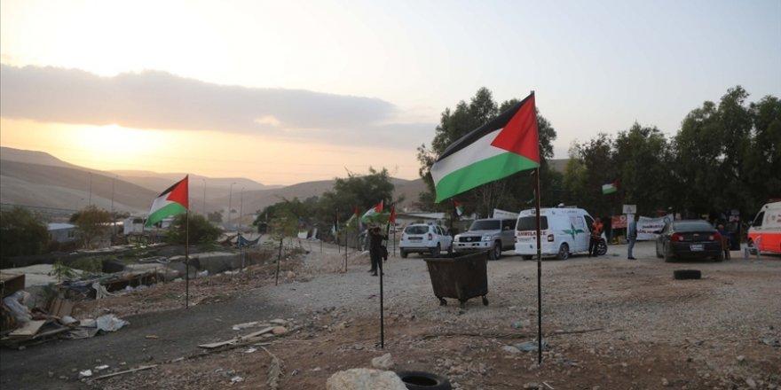 Siyonist İsrail'in yıkım politikası Han el-Ahmer'de protesto edildi